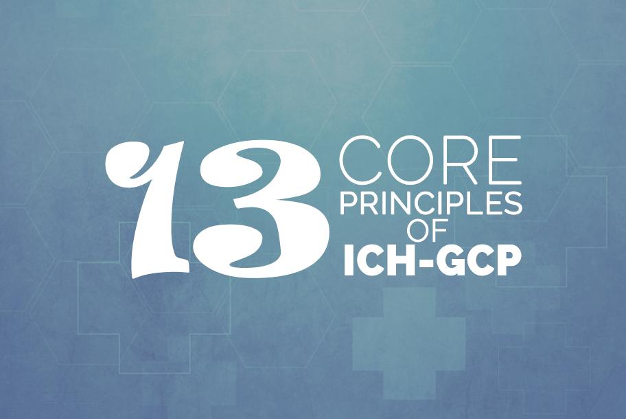 13 core principles of ich gcp